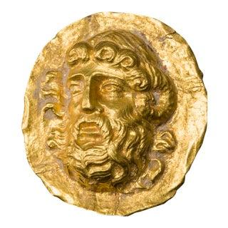 Hellenistic Gold Applique Depicting Zeus Ammon