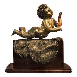 Antique Italian Bronze Putti Sculpture For Sale