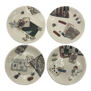 French Jeux Games Plates-Set of 4 For Sale