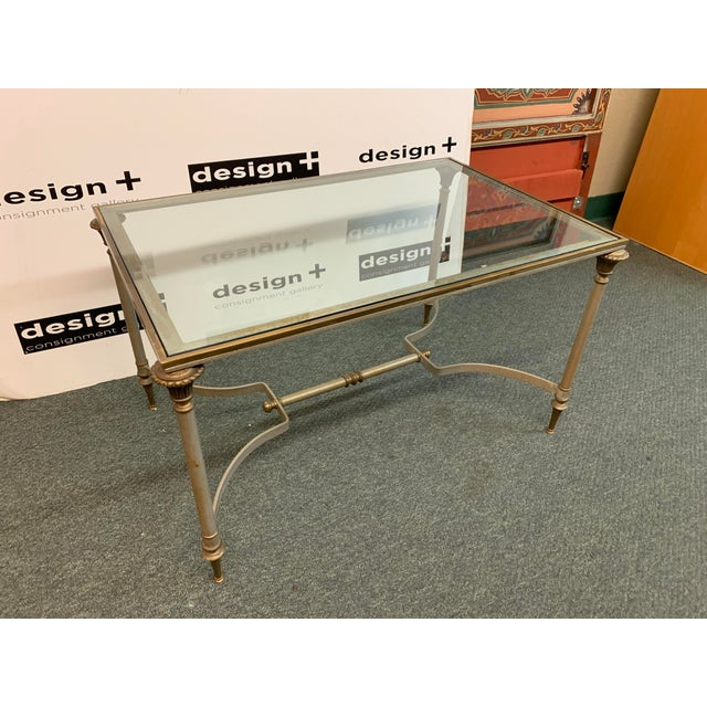 Stupendous Vintage French Brass Glass Coffee Table Chairish Machost Co Dining Chair Design Ideas Machostcouk