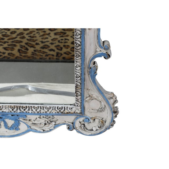 Blue & White French-Style Mirror - Image 6 of 6