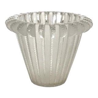 "Lalique Art Deco Glass Crystal ""Royat"" Vase, Circa 1930 For Sale"