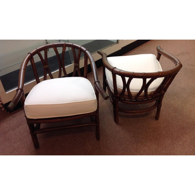 Mid-Century Modern 1970s Mid-Century Modern Ficks-Reeds Reed Side Chairs Designed by J. Wisner For Sale - Image 3 of 5