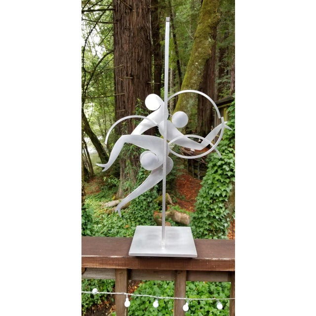 Abstract Kinetic Sculpture by Jerome Kirk For Sale - Image 3 of 12
