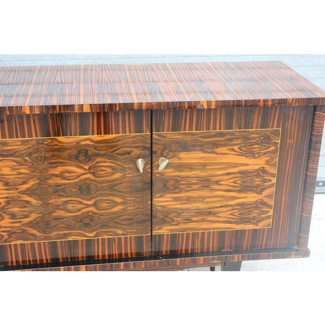 "French Art Deco Exotic Macassar Ebony ""Mushta"" Sideboard / Buffet, circa 1940s - Image 10 of 10"