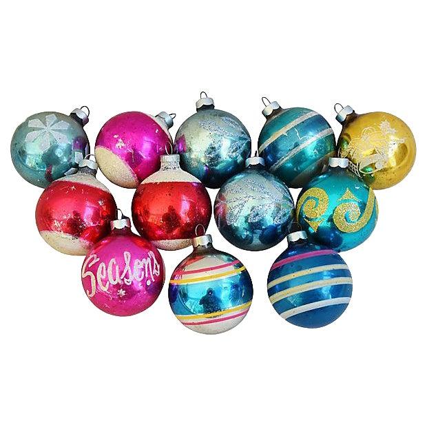 1960s Christmas Tree Ornaments w/Box - Set of 12 - Image 1 of 6