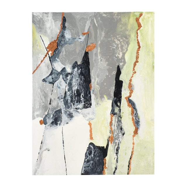 """Contemporary Abstract Painting """"Copper Field"""" by Ashley Mayel For Sale"""