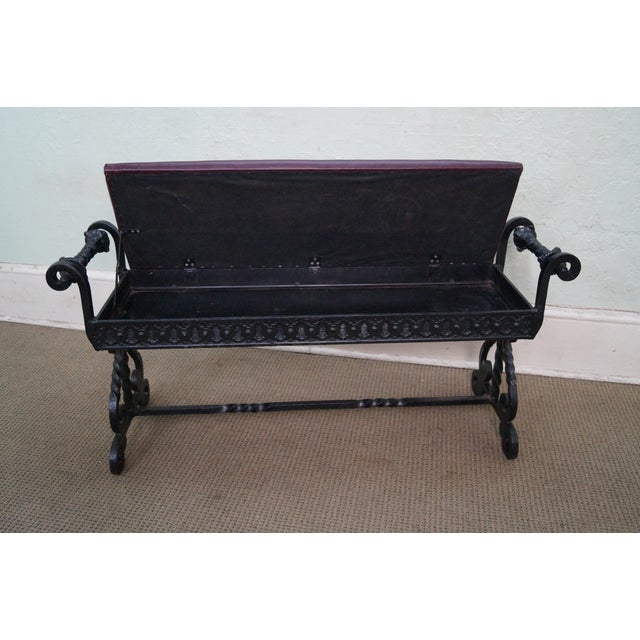 Country Antique 19th Century Iron Renaissance Bench For Sale - Image 3 of 10