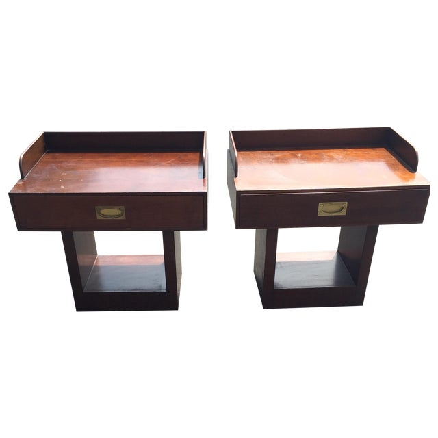 Directional Mid-Century Nightstands - A Pair - Image 1 of 11