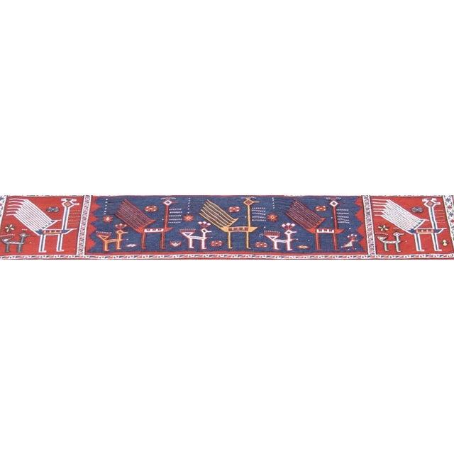 Folk Art Verneh Flat-Weave Rug For Sale - Image 3 of 3
