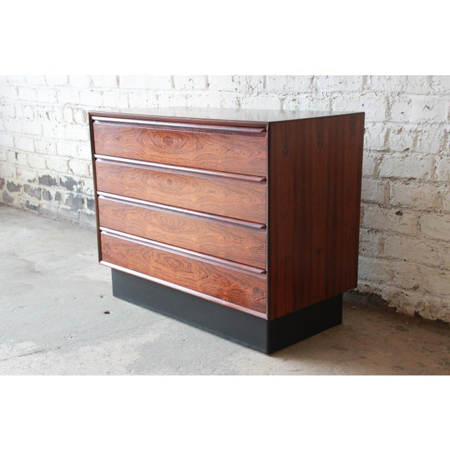 Mid-Century Modern Westnofa Norwegian Rosewood Bachelor Chest For Sale - Image 3 of 11