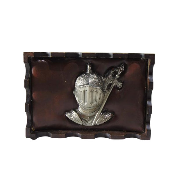Wood Jewelry Box with Suit of Armor - Image 1 of 5
