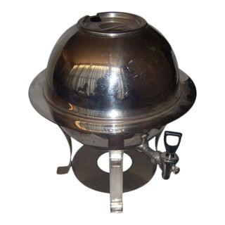 Mid-Century Stainless Steel Hot Water Samovar Dispenser