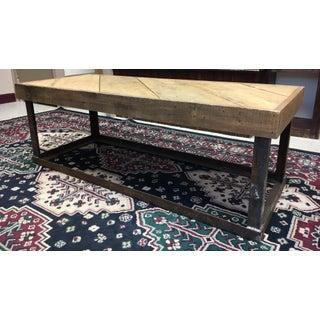 Industrial Wood & Metal Coffee Table Preview