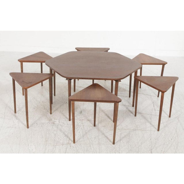 Danish Modern Vintage Mid-Century Danish Modern Rosewood Nesting Coffee Table - 7 Pieces For Sale - Image 3 of 8