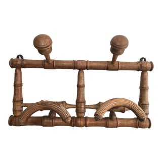 Vintage French Faux Bamboo Coat / Hat Rack For Sale
