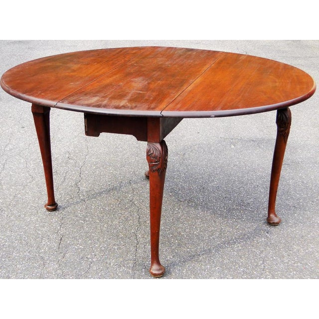 Mid 18th Century Mid 18th Century Antique Queen Anne Mahogany Dining Table For Sale - Image 5 of 5