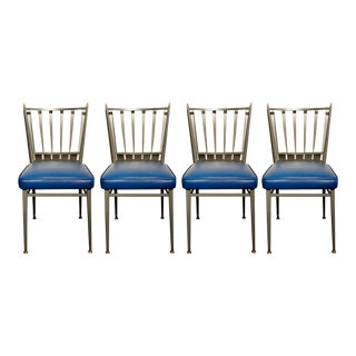 Chromcraft 1950s Slat Back Dinette Chairs - Set of 4