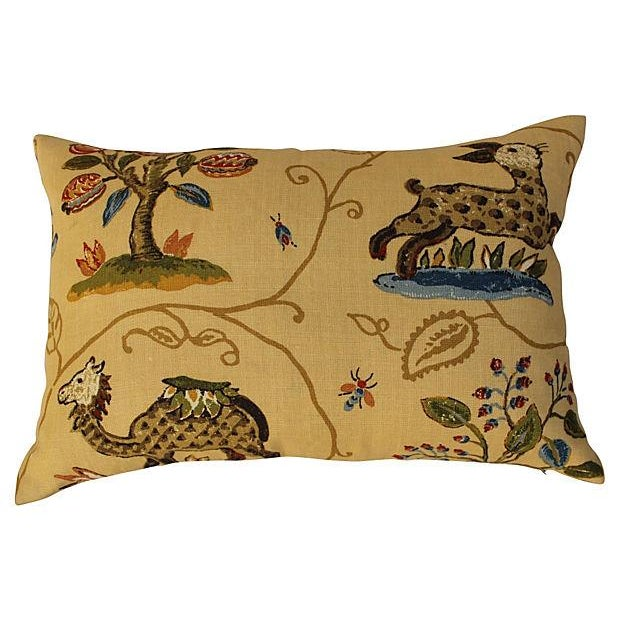 Schumacher La Menagerie Woven Pillows - Pair - Image 5 of 6