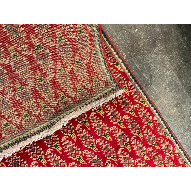 2000 - 2009 Persian Hand-Tied Wool Mir Runner Rug - 2″ × 11″ For Sale - Image 5 of 9
