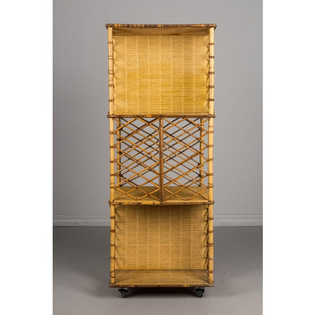 Mid-Century French Riviera Bamboo & Rattan Bookcase For Sale In Orlando - Image 6 of 11