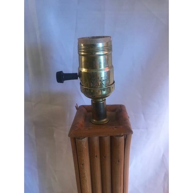 Vintage Pencil Bamboo Table Lamps - a Pair For Sale In West Palm - Image 6 of 8