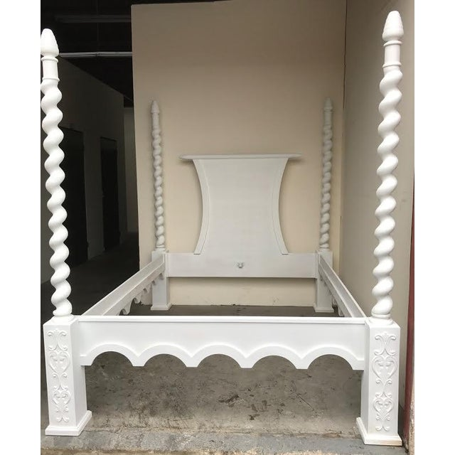 French Four Poster Queen Sized Bed - Image 2 of 8