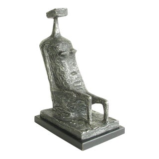 Kenneth Armitage Seated Woman With Square Head Recreation by Austin Productions Circa 1960's For Sale