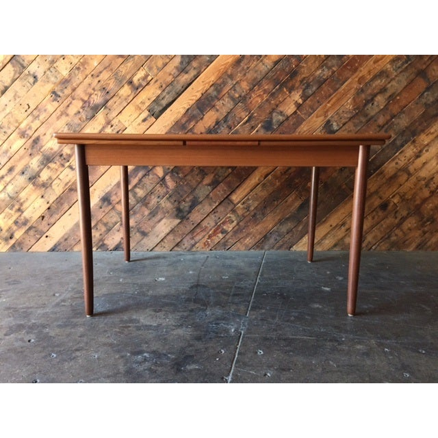 Mid-Century Danish Modern Refinished Dining Table - Image 7 of 8