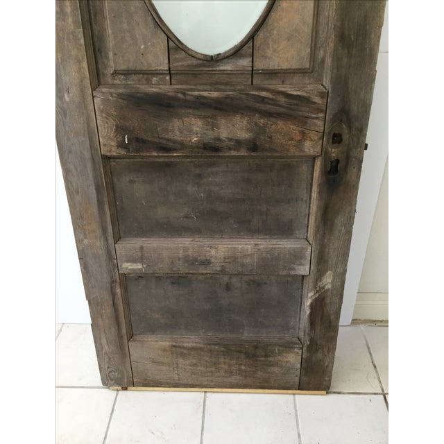 Antique Beveled Glass & Wooden Door - Image 8 of 10
