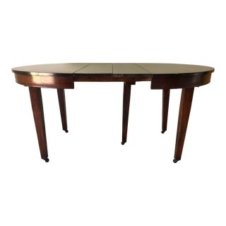 Antigue Mahogany 5-Leg Dining Table Apartment Size For Sale