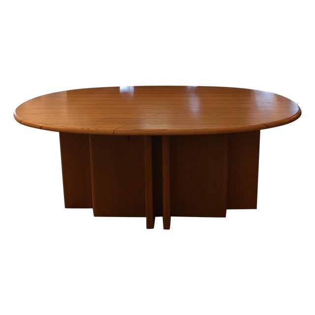 Scandinavian Designs Oval Dining Table & 4 Leaves - Image 1 of 10