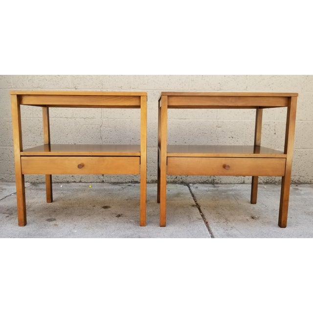 Brown Paul McCobb Side Tables / Nightstands - a Pair For Sale - Image 8 of 8