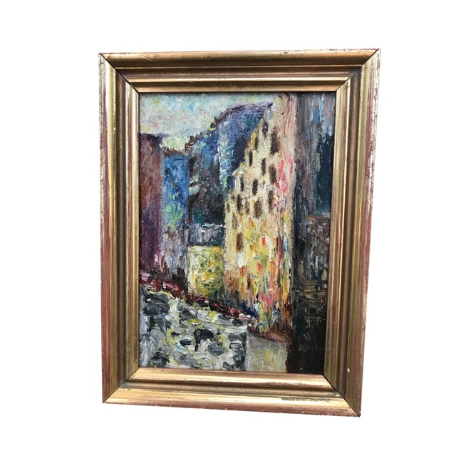 Early 20th Century European Impressionist Style Oil Painting, Framed For Sale - Image 4 of 4