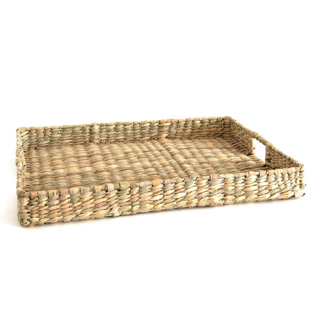 Handwoven Rush Tray For Sale - Image 4 of 4