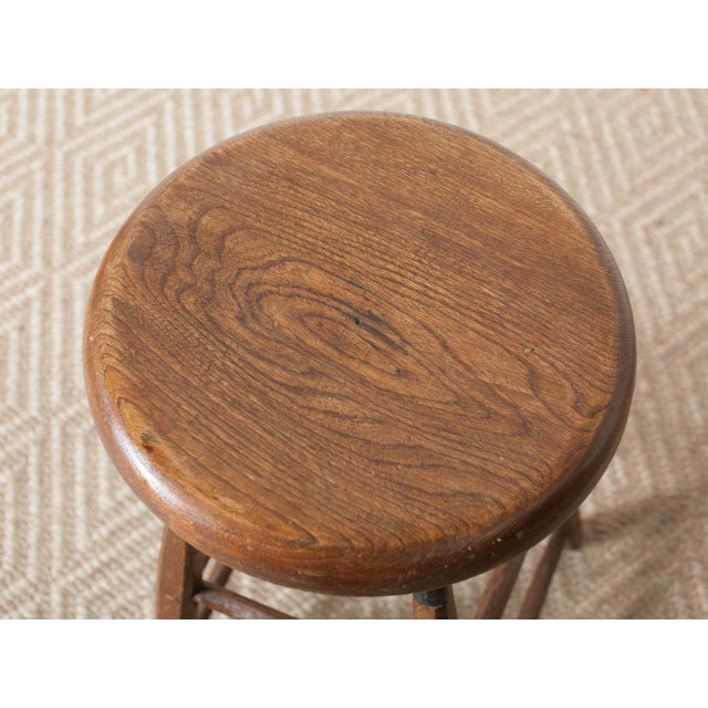 French Vintage Atelier Stool For Sale - Image 3 of 6
