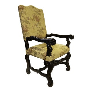 Floral Captains Dining Chair For Sale