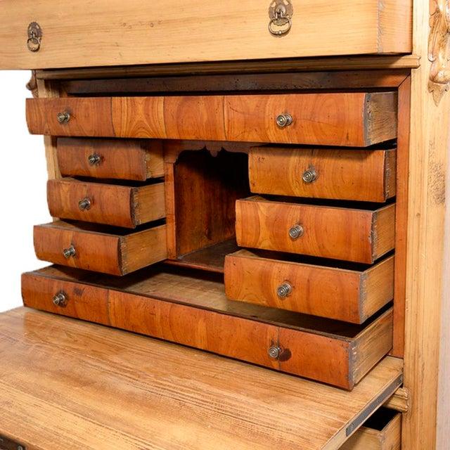 Mid 19th Century Swedish Pine Secrétaire à Abattant Desk C. 1860 For Sale - Image 5 of 11