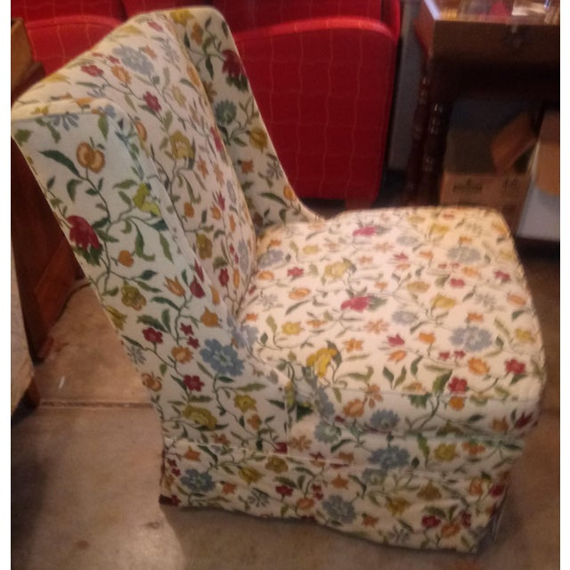 Shabby Chic 20th Century Shabby Chic Floral Print Accent Chair For Sale - Image 3 of 7