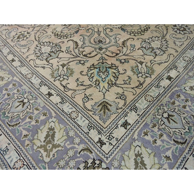 Antique Persian Handmade Area Rug - 9′5″ × 10′9″ - Image 7 of 11