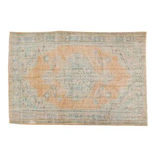 "Vintage Distressed Oushak Carpet - 6'1"" x 9'1"""