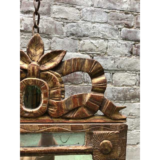 18th Century Caved Gilt Wood Smal Louis XVI Mirror For Sale - Image 4 of 8