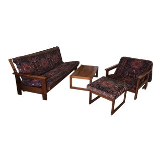 Brazilian Solid Cherrywood Living Room Set For Sale