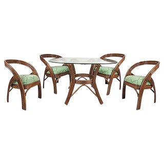 Ficks Reed Dining Set, S/5 For Sale