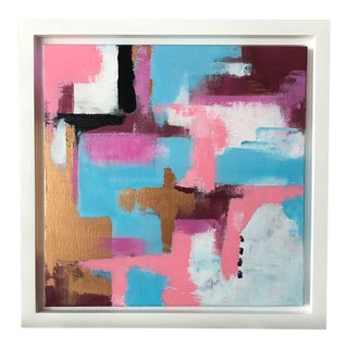 Indian Summer Framed Abstract Painting on Paper