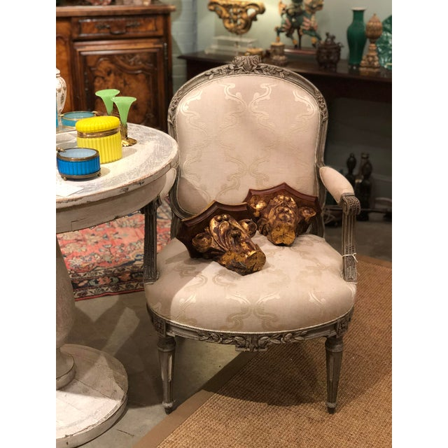Antique Painted French Chairs For Sale - Image 4 of 7