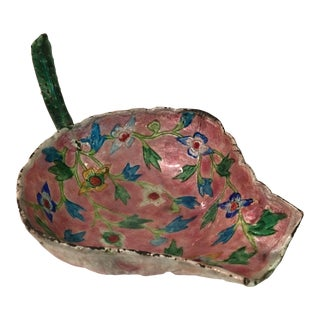 20th Century Anglo Indian Cloisonne Flower Shaped Dish in a Floral Motif