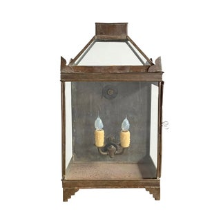 19th Century English Tole Lantern Sconce For Sale