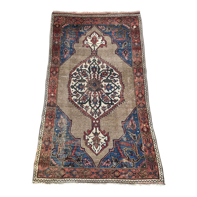 """Antique Persian Ferahan Rug - 3'5.5""""x 5'8"""" - Image 1 of 5"""