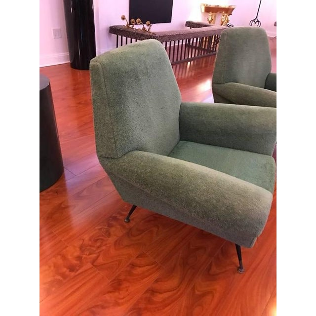 1960s Italian Mid-Century Modern Club Chairs - A Pair For Sale - Image 5 of 6